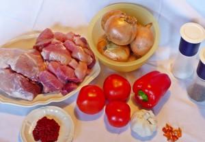 Zutaten für Schweindepfeffer